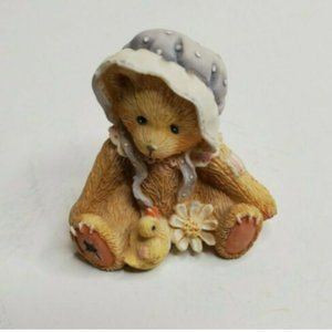 "1993 Miniature ""Cherished Teddies"" Bonnet Duck"